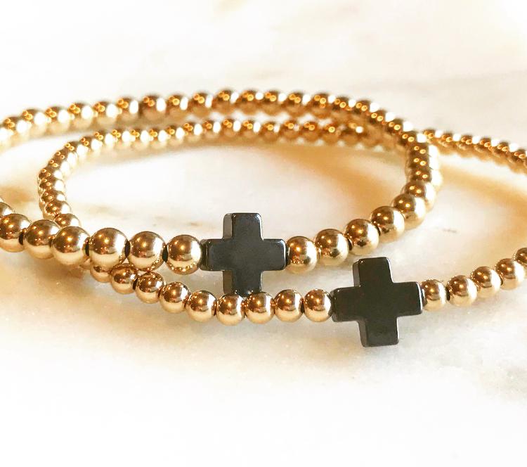 Hematite Cross Bracelets