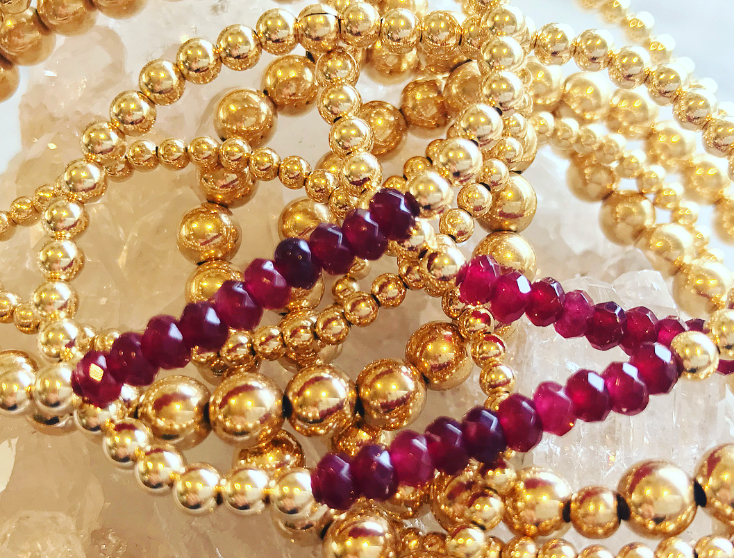 Ruby Jade Bracelets