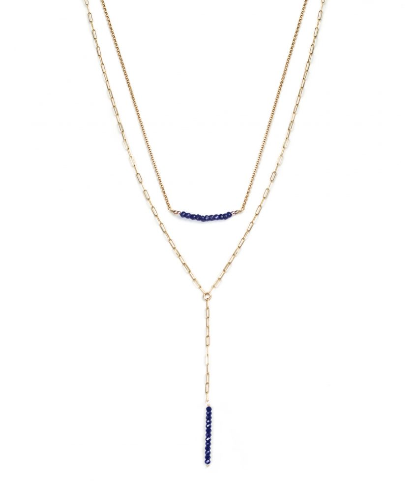 Sapphire Layered Necklace